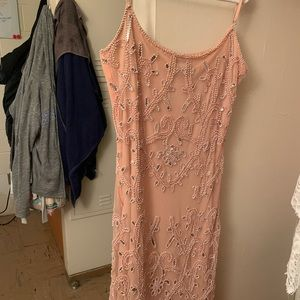 Peach beaded dress